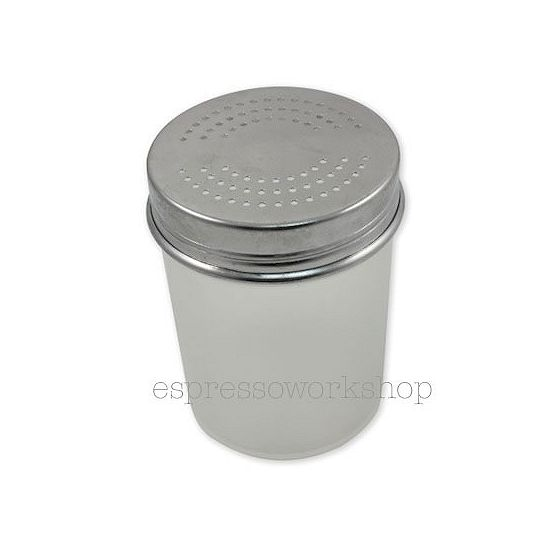 Chocolate Shaker Coarse Lid Silver Espresso Workshop